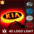 Ночь Господь 4D Эмблемы Автомобиля свет лампы светодиодные Задние Знак стикер свет свет 4D логотип свет Эмблемы led Для KIA