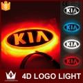 Night Lord 4D Car Emblem light lamp led Rear Badge Sticker light LED light  4D logo light Emblems led For KIA