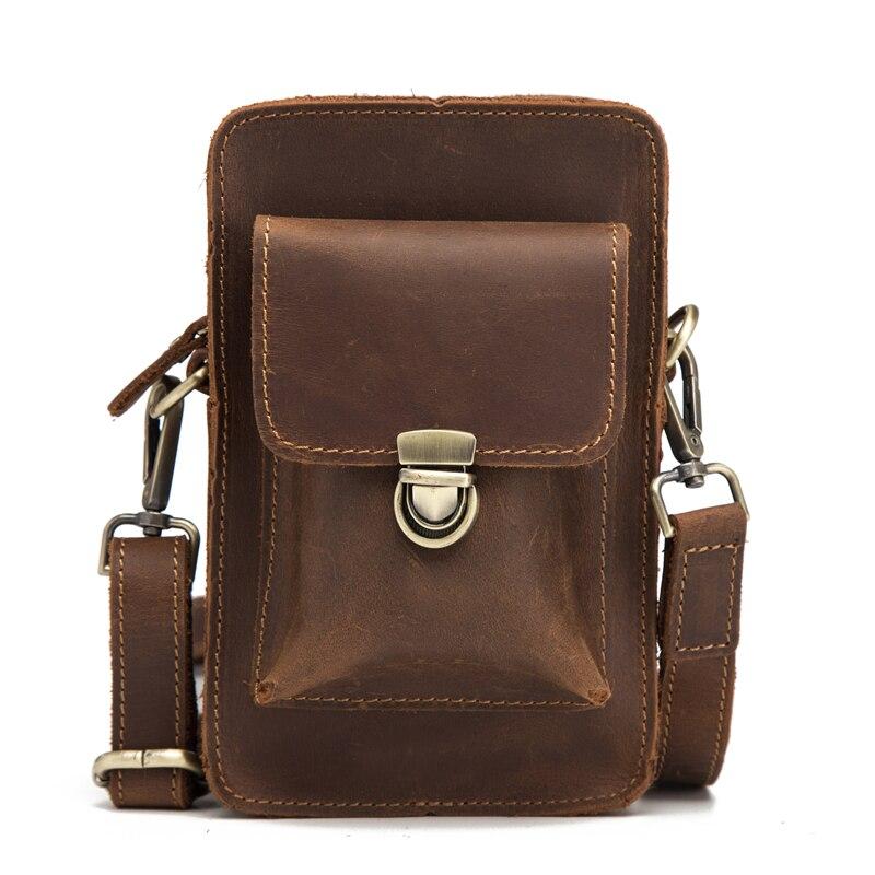Neweekend Mens Fanny Waist Pack Genuine Leather Bag Leg Hip Wallet Crossbody Mini Bum Big Totes Vintage Casual Beltbag
