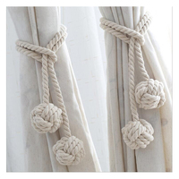 1 Pair Exquisite Bead Chain Magnet Curtain Tieback Creative Curtain Decoration Accessories for Living Room Curtain Access Apply