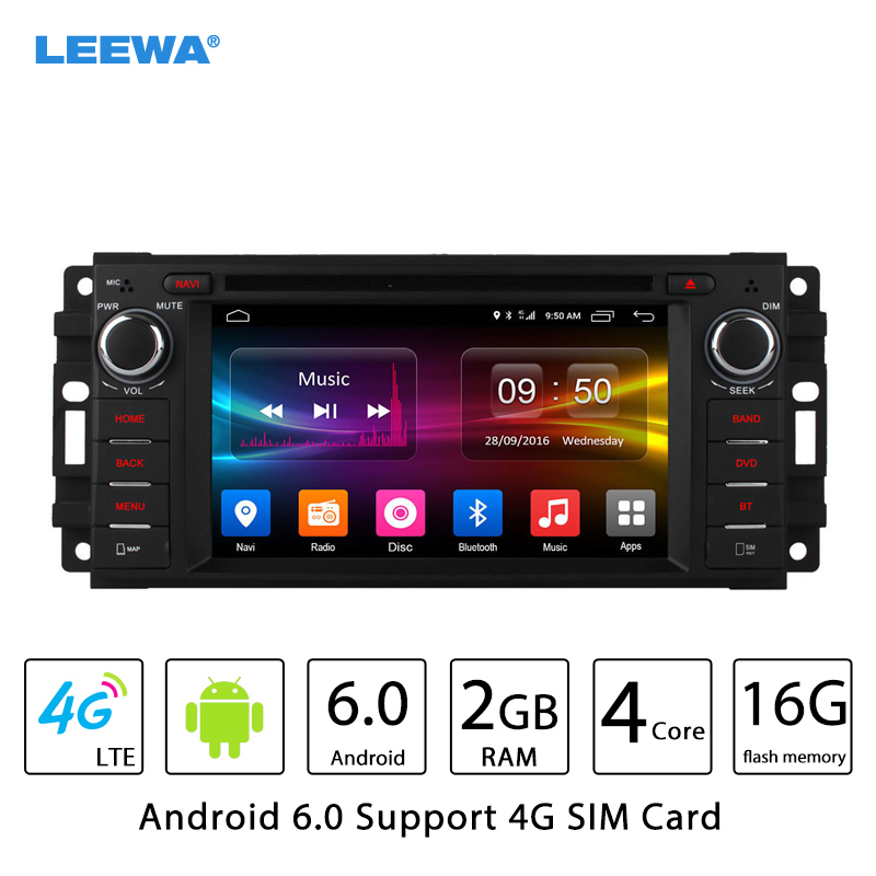 LEEWA Android 6,0 (64bit) DDR3 2 г/16 г/4 г LTE Прокат DVD gps радио для Dodge Оперативная память 1500/ 2500/3500/Avenger/Калибр/вызов/Dakota/Dura