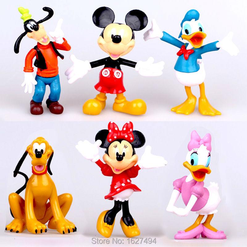 Dibujos animados - Página 2 6-unids-lote-10-cm-Mickey-Mouse-Clubhouse-PVC-figuras-de-acción-del-ratón-de-Minnie