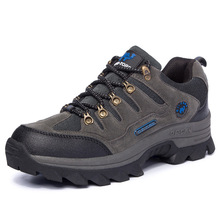 2018 Hiking Shoes Men Genuine leather outdoor boots men trekking shoes camping Waterproof Climbing shoes Plus size 45,46,47