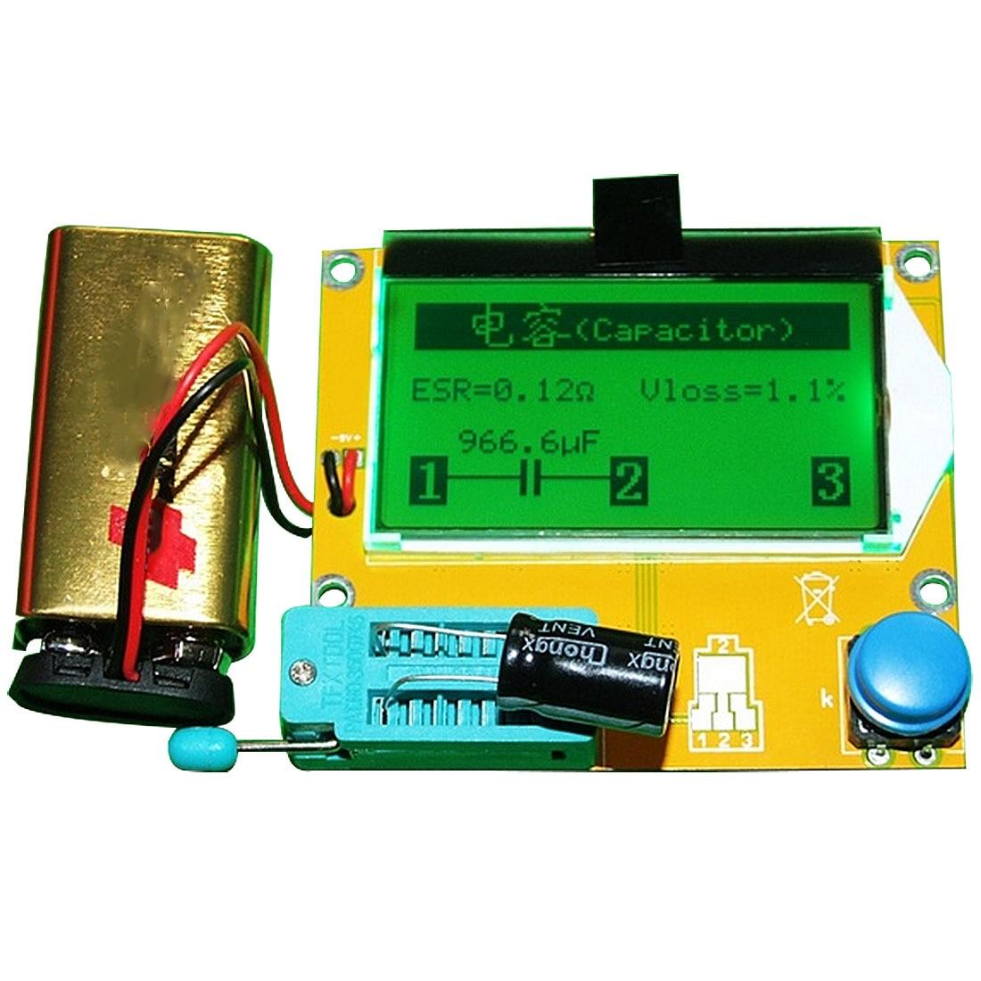 Backlight Diode Triode Capacitance ESR Meter M328 LCR-T4 12846 LCD Digital Transistor Tester Meter MOS/PNP/NPN L/C/R ...