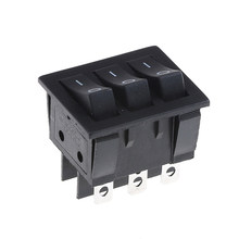KCD3 Big Rocker Switches Black Three-Way Switch 9 Pin 2 Position multi-knife single-throw 15A 250V 20A 125VAC AC ON-OFF 34*40(China)