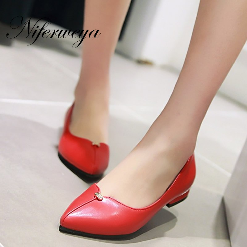 Fashion Pointed Toe flats Spring/Autumn Casual women shoes big size 31-48 solid PU Slip-On ladies flat shoes zapatos mujer spring summer women flat ol party shoes pointed toe slip on flats ladies loafer shoes comfortable single casual flats size 34 41