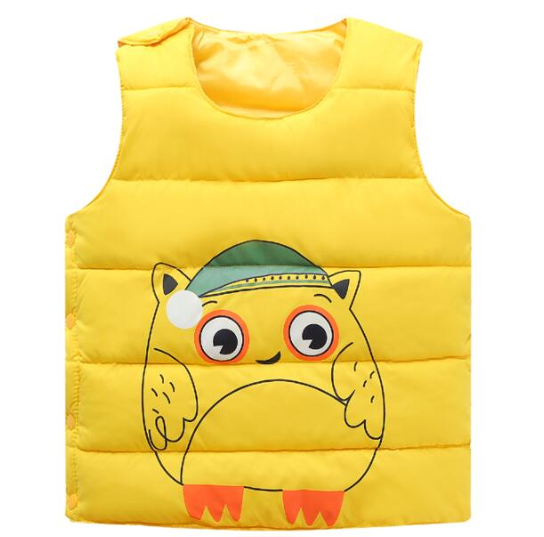 Children 2017 winter child down vest cotton jacket baby boys girls waistcoat outerwear winter baby vest  snowsuit baby