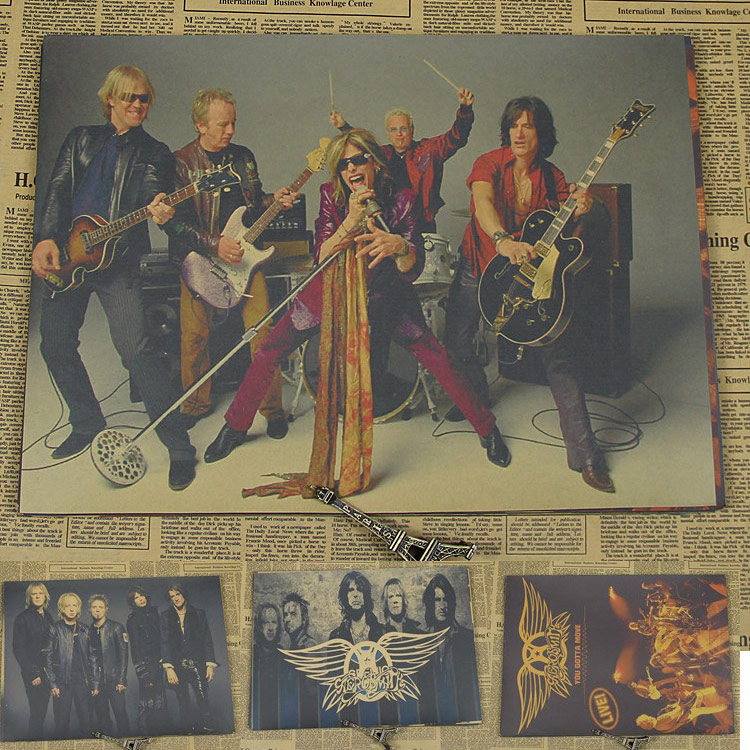 Vintage Poster Aerosmith Smith craft paper old rock and roll