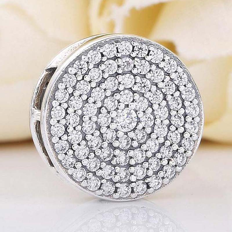 New 925 Sterling Silver Bead Charm Reflexions Dazzling Elegance Clip With Crystal Beads Fit Pandora Bracelet Bangle Diy JewelryNew 925 Sterling Silver Bead Charm Reflexions Dazzling Elegance Clip With Crystal Beads Fit Pandora Bracelet Bangle Diy Jewelry