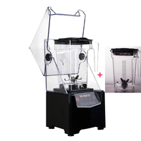 Quiet commercial blender with extra jar set