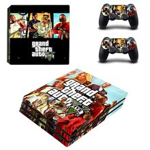 Grand Theft Auto V GTA 5 PS4 Pro Skin Sticker Decal Vinyl voor Sony Playstation 4 Console en 2 Controllers PS4 Pro Skin Sticker(China)
