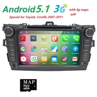 For 4 Core Android 5 1 Car Dvd Player For Toyota Corolla 2007 2011 With Cortex