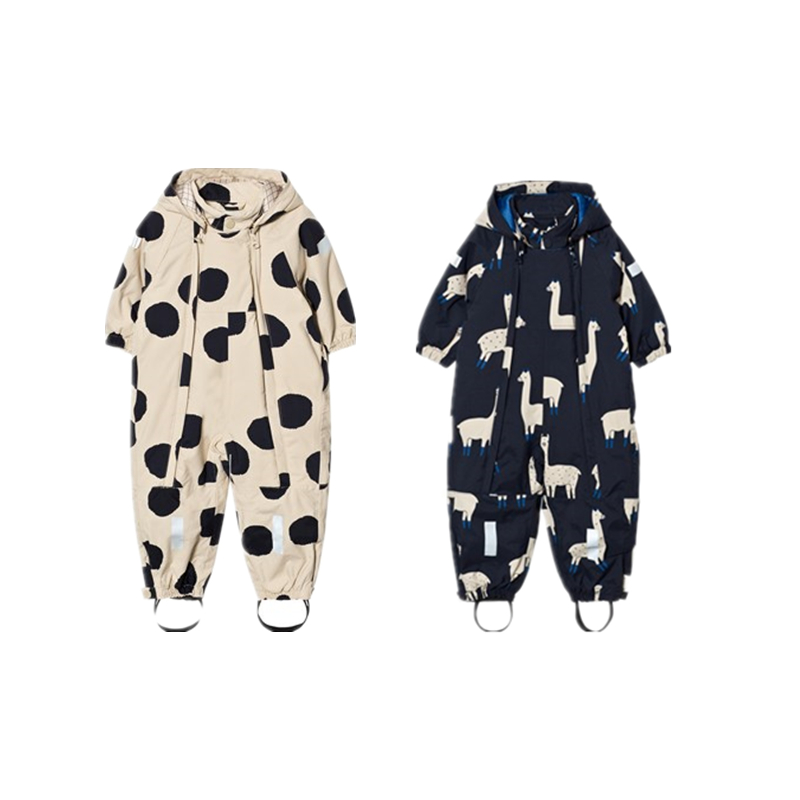 Pom poms and Llama Snowsuit 2 colors Pre-sale llama and pom poms snow jackets p