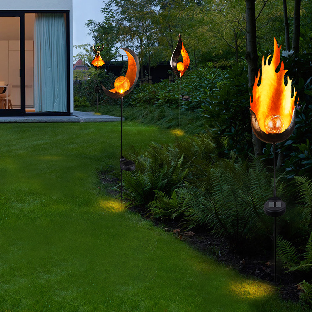 Led Solar Flame Flickering Nightlight