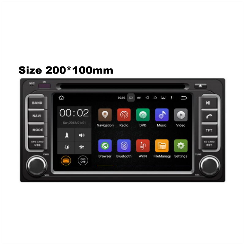 200*100mm Car Radio CD DVD Player AMP BT HD Touch TV Screen GPS Navi Navigation Audio Video Stereo Wince / Android System