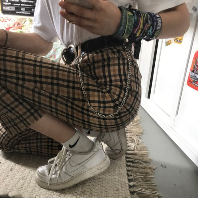 38cm Long Metal Wallet Belt Chain Rock Punk Trousers Hipster Pant Jean Keychain Silver Ring Clip Keyring Men's HipHop Jewelry