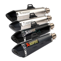 Laser 470mm Universal Motorcycle Akrapovic Exhaust Muffler TMAX530 TMAX500 Carbon Fiber Tip Hexagonal 51mm Escape System Damper