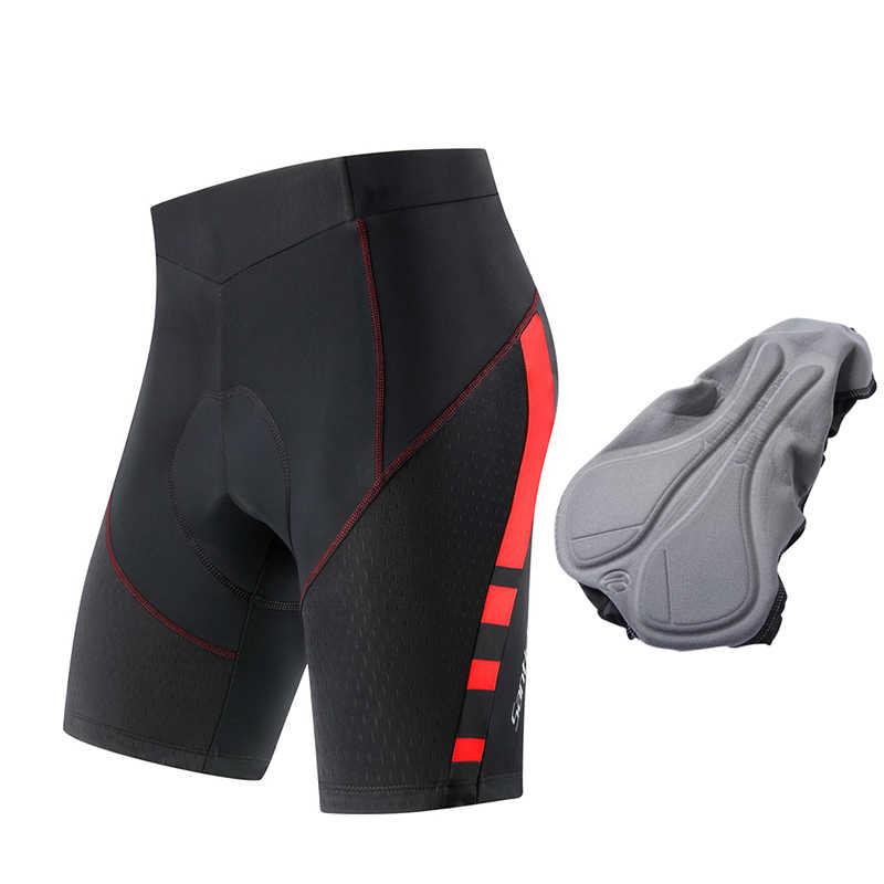 산티크 남자 사이클링 반바지 Coolmax 4D 패드 충격 방지 MTB Ciclismo Hombre 팀 여름 의류 아시아 크기