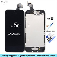 For IPhone 5C Lcd Screen Assembly And Touch Screen Digitizer Assembly Home Button Front Camera