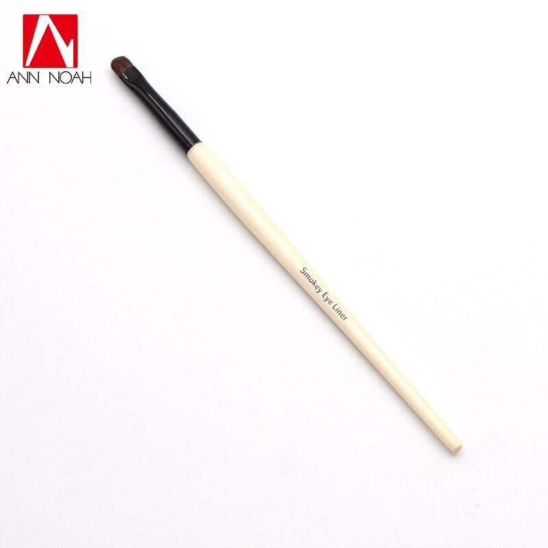 Professional Long Wood Handle Soft Pony Hair Small Paddle Tip Precision Smokey Eye liner Brush soft eye brush 7pcs