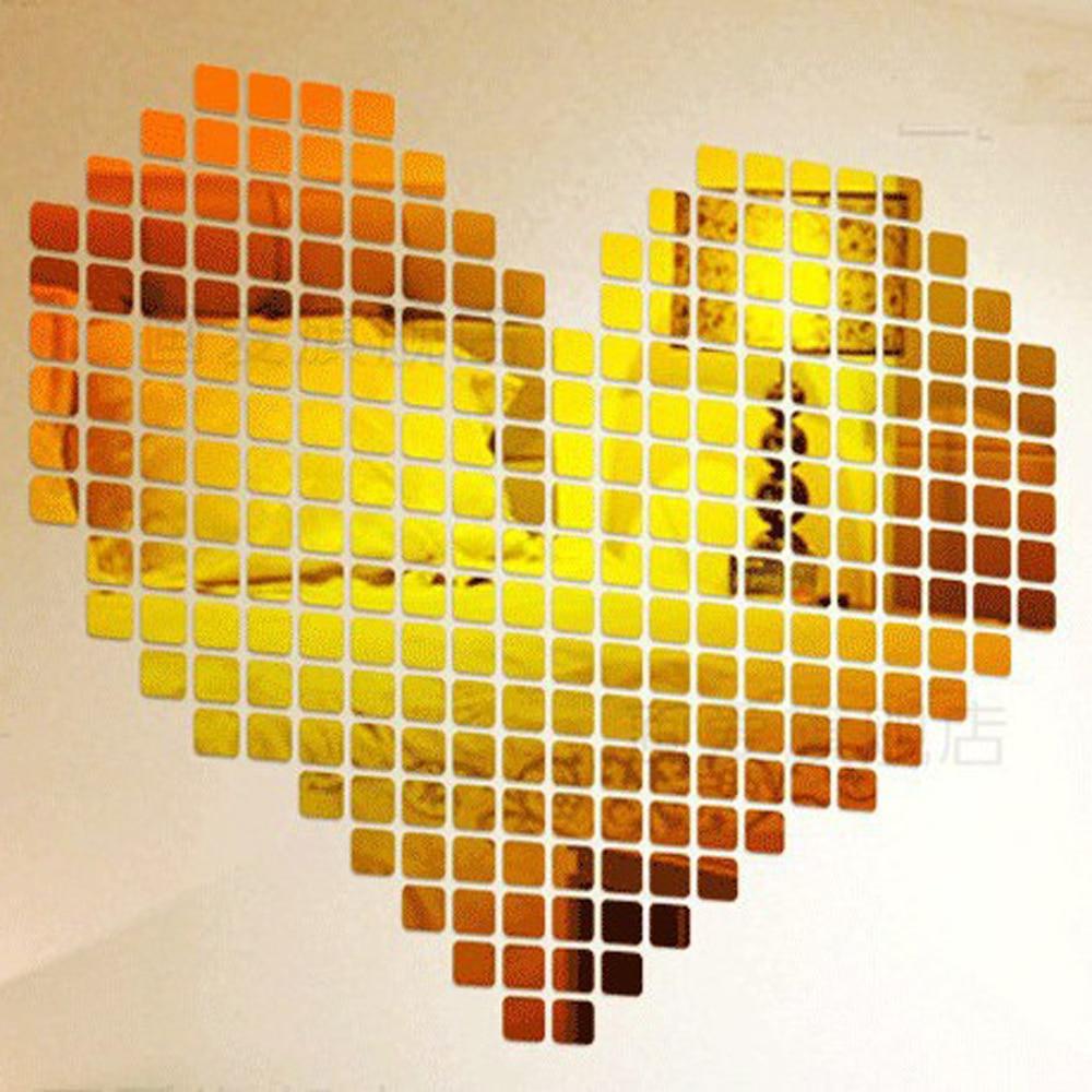 DIY 100pcs Small Cubes Mosaic Squares Wall Decor Art LOVE Hearts ...