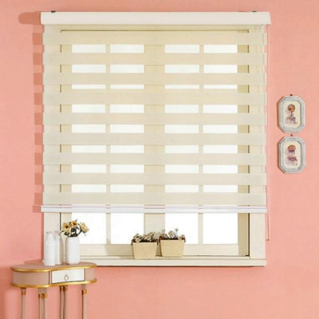Men\'s double thick soft gauze shutter curtain blackout blinds zebra ...