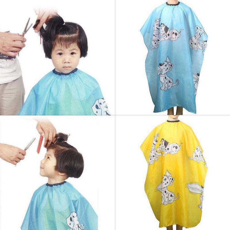 1PCS Kids Waterproof Hairdressing Wrap Hair Cut Cloth Salon Gown Cover Barber Hairdresser Hair Styling Home Clean Tools