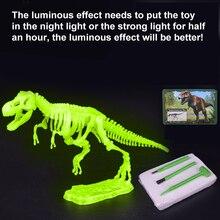 Kits de excavación de dinosaurios de Jurassic para niños, conjunto de juguete educativo de arqueología, regalo educativo, figura de acción, BabyA9BC01