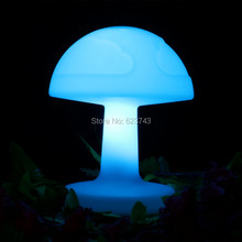 где купить Free Ship Colorful Rechargeable LED Glowing Desk Table Lamp Remote control led mushroom table light Adjustable LED Read Light дешево