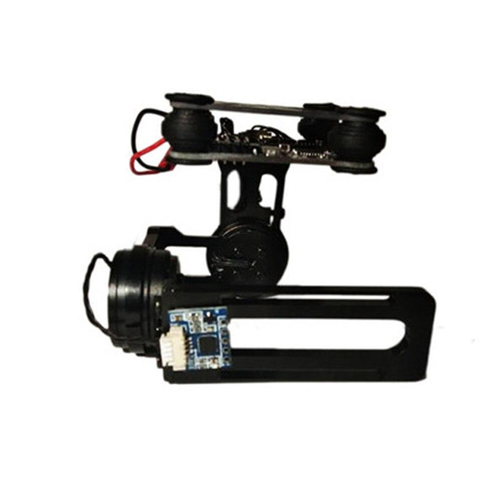 Capteur Durable professionnel d'alliage d'aluminium de photographie de cardan de contrôleur de vis sans brosse aérien de 2 axes pour la caméra de GoPro - 2