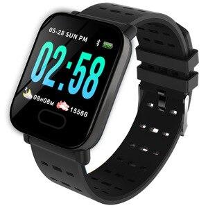 Image 1 - Inteligente Pulseira Bluetooth Relógio Inteligente para iPhone Android Tela de Toque de fitness atividade Tracker watch Pulseira de silicone Remoto