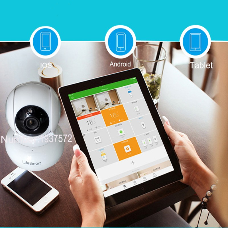 5-Lifesmart Home Automation Smart IP Camera Wifi Wireless Remote Control CCTV Camera for Security Alarm Night Vision 720P NTSCPAL