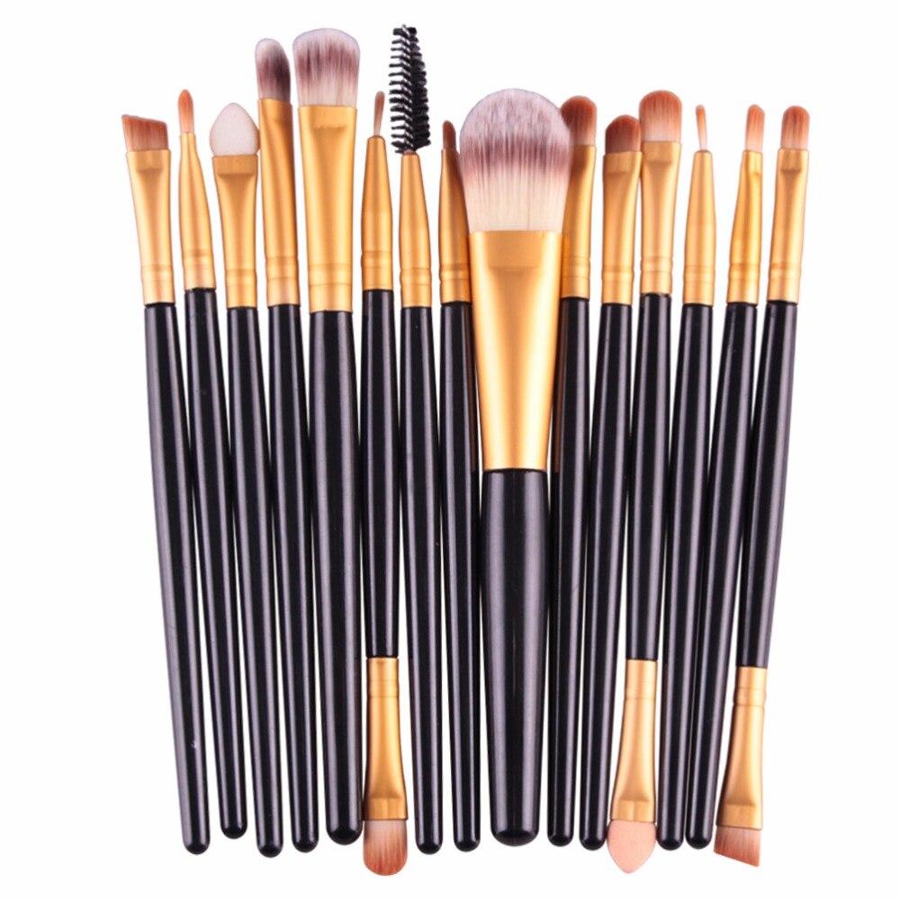 Maange Pro 15pcs Makeup Brushes Set Eye Shadow Foundation Powder Eyeliner Eyelash Lip Make Up Brush Cosmetic Beauty Tool Kit Hot #3