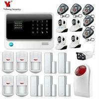 Yobang безопасности Беспроводной проводной GSM WI FI интеллектуальные системы безопасности Системы Indoor/открытый Камера наблюдения домашней охра