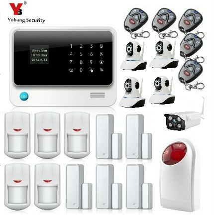 Yobang Security Wireless Wired GSM WIFI Intelligent Security System Indoor/Outdoor Camera Surveillance Home Security Alarm Kits yobang security wireless wired gsm wifi intelligent security system indoor outdoor camera surveillance home security alarm kits