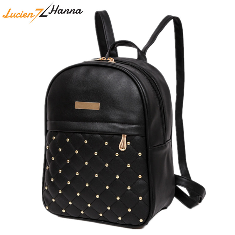 High Quality Women Backpacks 2018 Hot Sale Fashion Causal School Bags Shoulder Bag PU Leather Back Pack Female Schoolbag Teenage