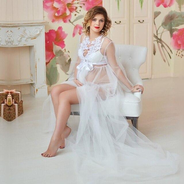 seleccione para mejor último estilo mejor elección 2019 vestidos de maternidad tul blanco para sesión fotográfica largos  embarazadas vestido encaje bordado