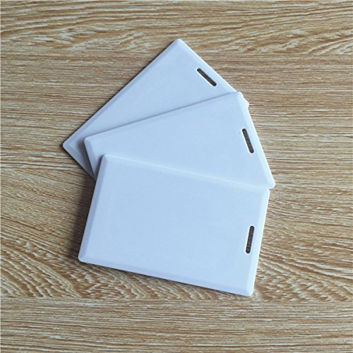 125khz em4100 door entry access blank white proximity rfid clamshell thick card thickness 1 9mm pack of 10 OBO HANDS-RFID Thick Clamshell Card 125KHz Writable Rewrite T5577 Proximity Access Card duplicator card (pack of 10)
