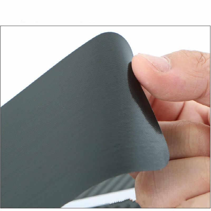 4 Stks/set Koolstofvezel Sill Scuff Anti Scratch Drempel Auto Sticker Auto Styling 3D Pu Stickers 60cmx2 40cmx2
