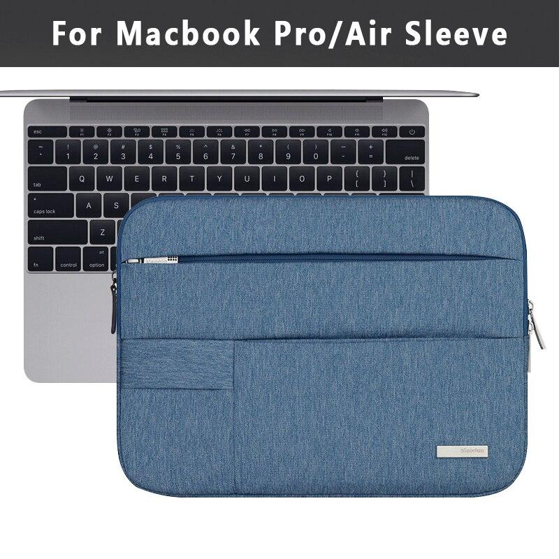Notebook Sleeve Multi Pocket for Macbook Pro/Air 11 12 13 14 15inch Women Laptop Bag Waterproof Case For Mac 13.3 15.4 Touchbar wiwu laptop bag 11 12 13 14 15 inch nylon notebook bag for macbook pro 15 pro 13 fashion women men s bag for macbook air 13 case