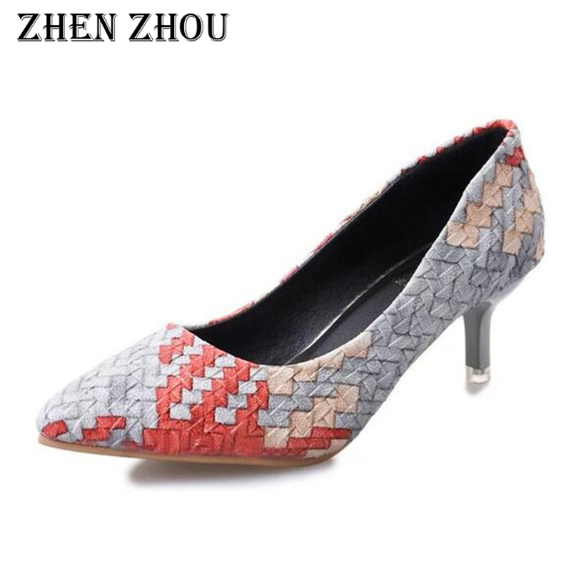 pumps women shoes escarpins femme 2018 thin