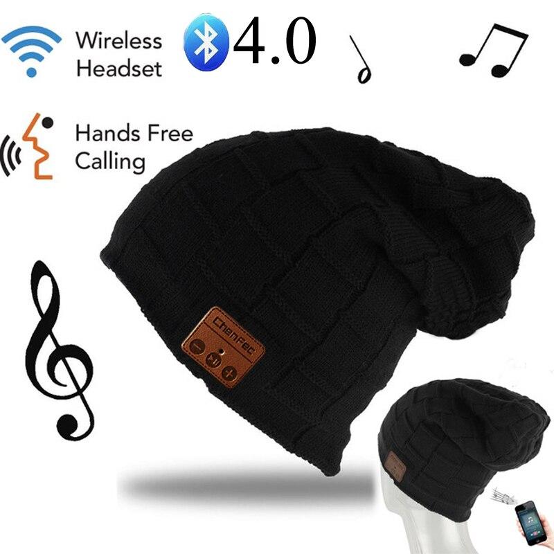 Winter ChenFec Bluetooth Headset Knit Hats Headphone Bluetooth fashion Music Player Hat Earphone Beanie hat Christmas gift