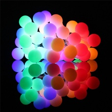 hot deal buy christmas globe string lights led colored outdoor string lights battery powered waterproof remote control party wedding decor