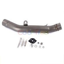 Exhaust Mid Link Connect Modified Pipe Tube Muffler Mid Pipe For Kawasaki Z800 2013-2016 Z250SL ZR-7/S  ZX6R 7R