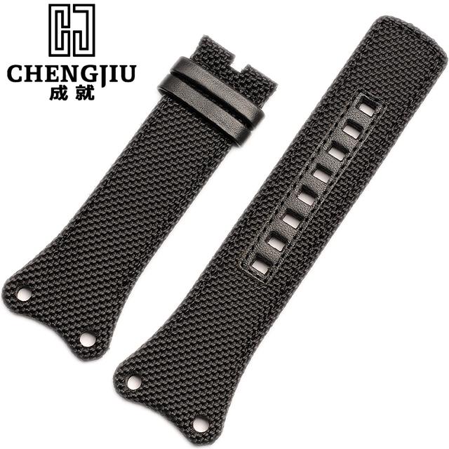 Canvas Watchbands For CALVIN KLEIN K4B384B6 K4B381B3 Ladies Watch Straps For CK Men Watch Band 30mm Watch Belt With No Buckle