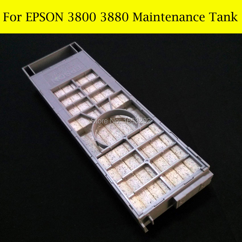 1 PC Original Waste Ink Tank Maintenance Tank For Epson Stylus Pro 3800 3880 3800C Printer best price stable maintenance ink tank for epson surecolor t3070 t5070 t7070 printer waste ink tank