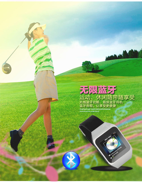 2017 Newest Mp3 player 8G of bluetooth MP3 watch  player pedometer U disk smart card with video e-books walkman MP3 watch player
