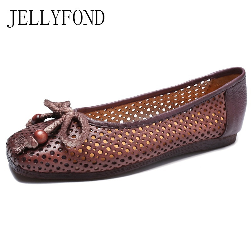 Genuine Leather Women Flat Sandals 2018 Handmade Summer Shoes Woman Sqaure Toe Slip On Comfortable Sandals Zapatos Mujer summer shoes high quality of handmade genuine leather womens shoes open toe sandals cowhide leather comfortable flat sandals