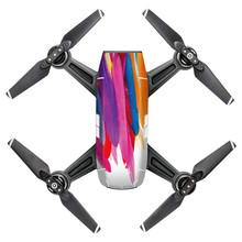 A prueba de agua Pieles Calcomanía Etiqueta Engomada Del Abrigo Protector Del Cuerpo Para Spark Mini Drone DJI Jul3 Profesional Precio de Fábrica Envío de La Gota(China)