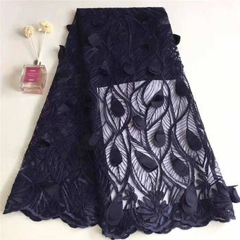 Multi-coloe 2019 New African French Nigeria Mesh Net Lace Fabric For Evening Party Dress Fabrics Purple